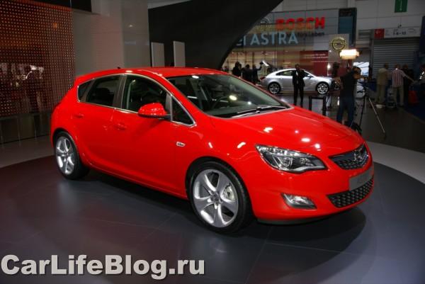 Новая Opel Astra в Франкфурте.
